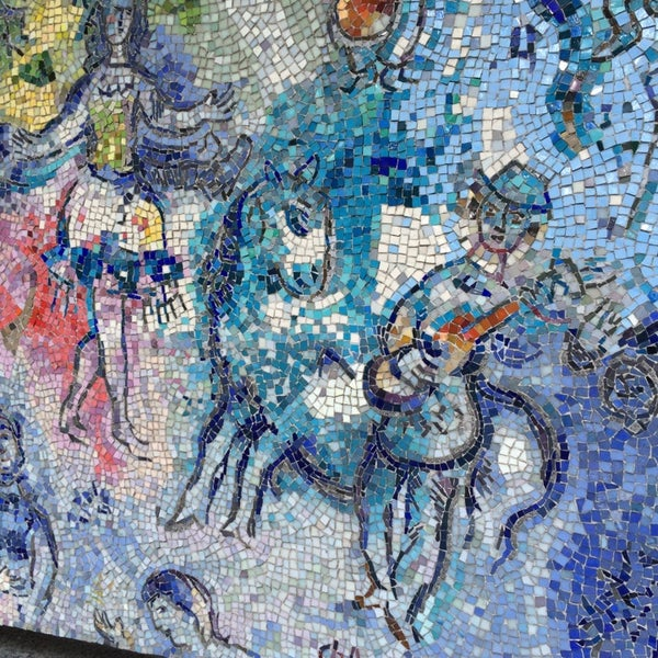 "Photo taken at Chagall Mosaic, ""The Four Seasons"" by Lauren D. on 6/3/2014"
