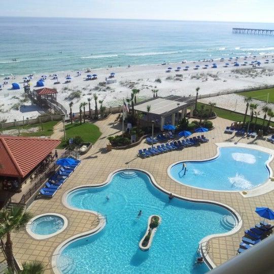 Photo taken at Hilton Pensacola Beach by david m. on 10/5/2012
