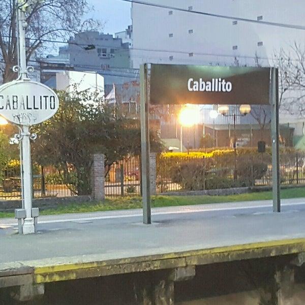 Photo taken at Estación Caballito [Línea Sarmiento] by Martin T. on 7/25/2016