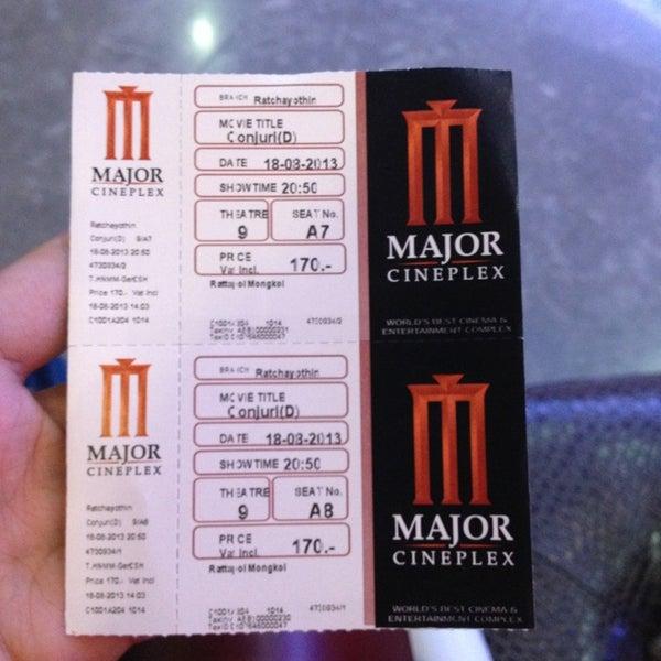 Photo taken at Major Cineplex Ratchayothin by Ryan P. on 8/18/2013