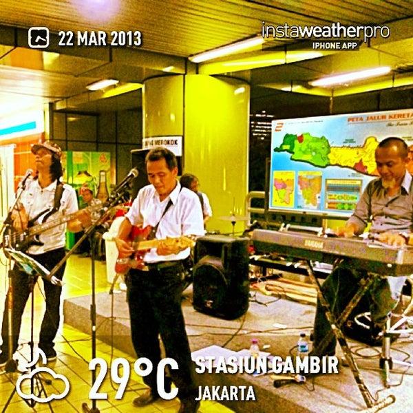 Photo taken at Stasiun Gambir by Eshape B. on 3/22/2013