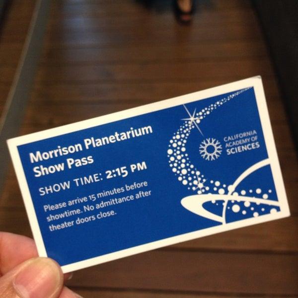 Photo taken at Morrison Planetarium by Cristina S. on 8/28/2014