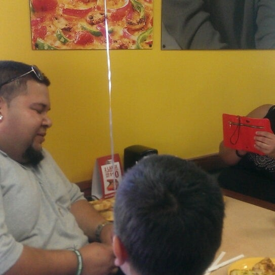 Photo taken at Cicis by Wanda C. on 9/28/2013