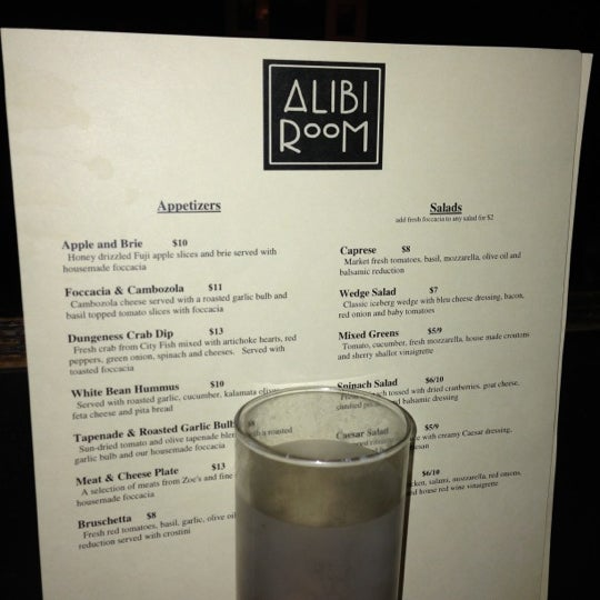 Photo taken at Alibi Room by Abbey M. on 11/17/2012