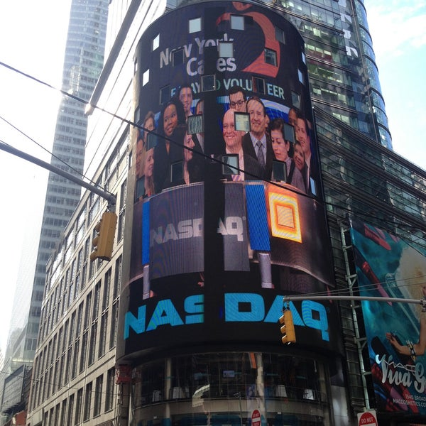 Photo taken at Nasdaq Marketsite by Peter T. on 4/16/2013