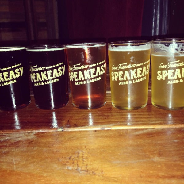 Photo taken at Speakeasy Ales & Lagers by Megan T. on 1/26/2014