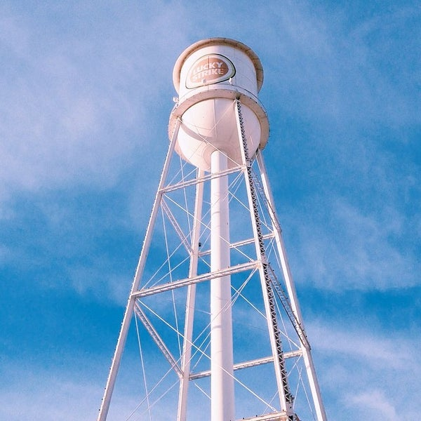 Photo taken at Lucky Strike Water Tower by Crillmatic on 4/27/2014