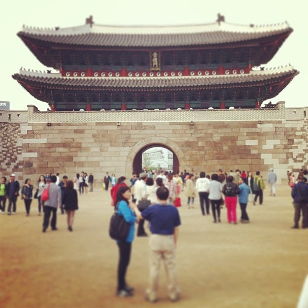 Photo taken at Sungnyemun by Sanghyuk M. on 5/12/2013