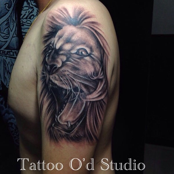 Photo taken at Tattoo O'd studio by Boho M. on 6/26/2014
