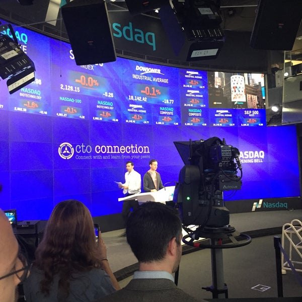 Photo taken at Nasdaq Marketsite by Scott C. on 11/1/2016