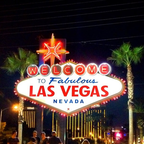 Photo taken at Welcome To Fabulous Las Vegas Sign by Jeffrey P. on 10/30/2012