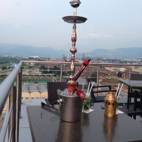 View from 10 floor with shisha :)