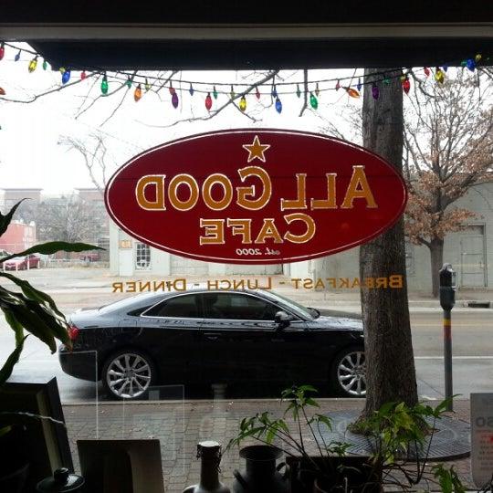 Photo taken at All Good Cafe by Blake B. on 1/26/2013