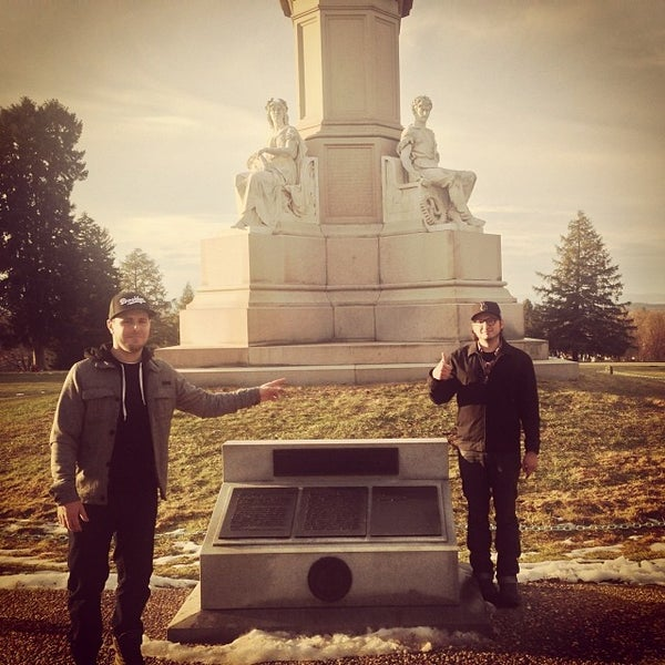 Photo taken at Gettysburg National Cemetery by Nic A. on 12/21/2013