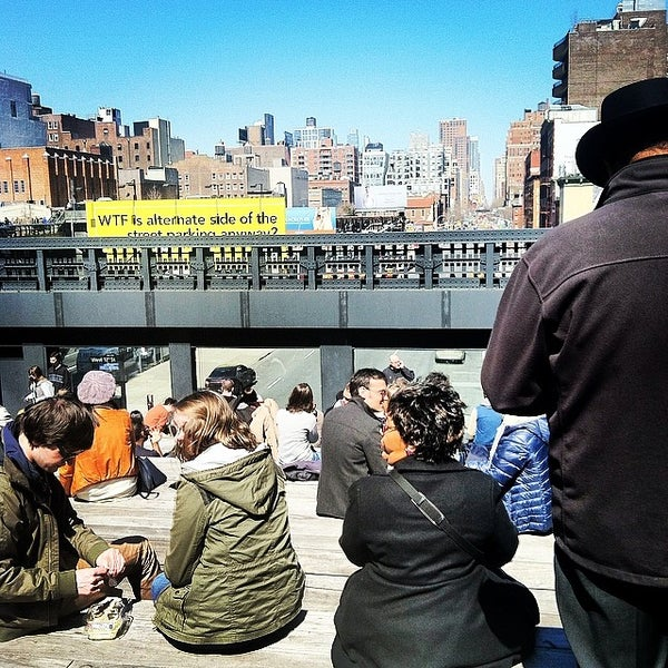 Photo taken at High Line 10th Ave Amphitheatre by Rebecca W. on 4/6/2014
