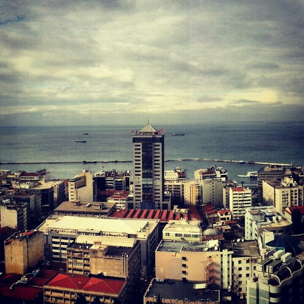 Photo taken at Hilton Izmir by nubar o. on 12/20/2012