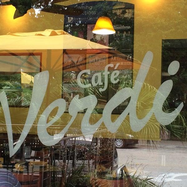 Cafe Verdi Fort Lauderdale Menu