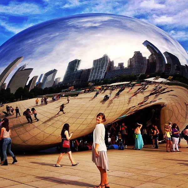 Photo taken at Cloud Gate by Hannah K. on 7/26/2013