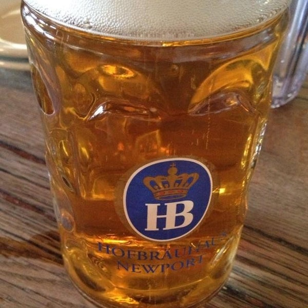 Photo taken at Hofbräuhaus Newport by Steven V. on 7/25/2013