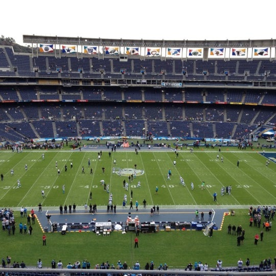 Photo taken at Qualcomm Stadium by Lisa D. on 12/16/2012