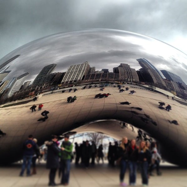 Photo taken at Cloud Gate by Michael S. on 4/14/2013