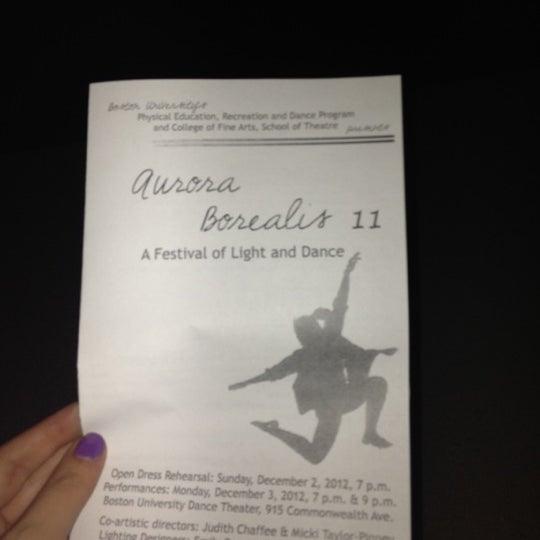 Photo taken at Boston University Dance Theater by Gellie C. on 12/4/2012