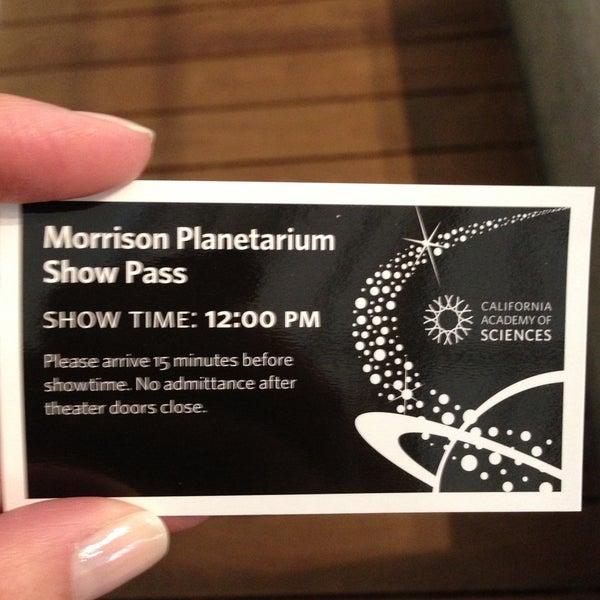 Photo taken at Morrison Planetarium by Carmen on 4/27/2013