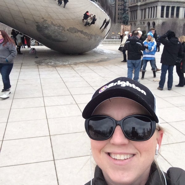 Photo taken at Cloud Gate by Claire B. on 3/1/2014