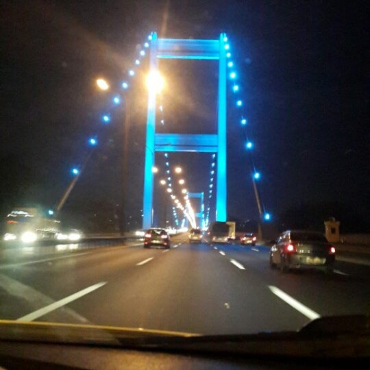 Photo taken at Fatih Sultan Mehmet Bridge by Tarık Ziyat R. on 7/20/2013