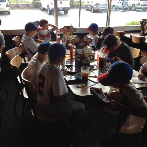 Photo taken at Buffalo Wild Wings by Jennifer D. on 7/20/2014