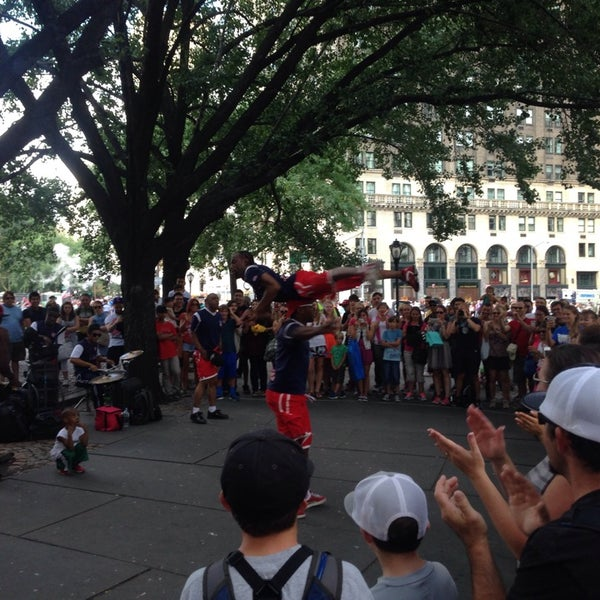 Photo taken at Grand Army Plaza by Tim D. on 8/14/2014