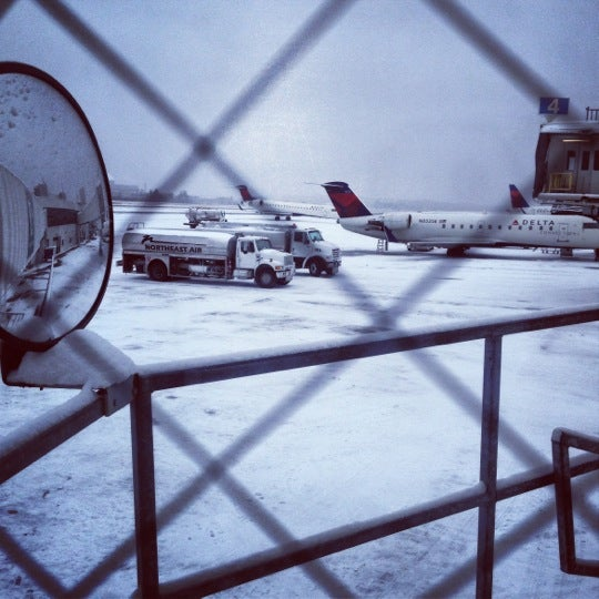 Photo taken at Portland International Jetport (PWM) by Joy T. on 12/17/2012