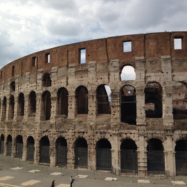 Photo taken at Piazza del Colosseo by Mary L. on 3/10/2014