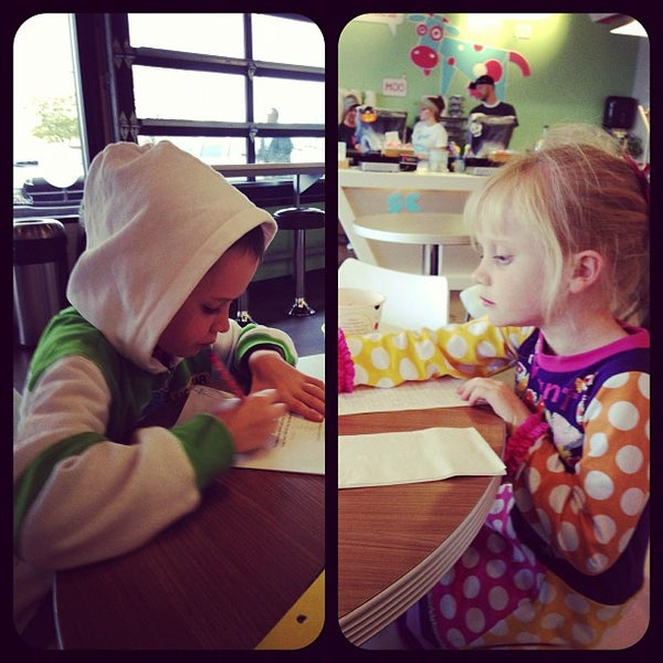 Photo taken at Smart Cow Yogurt Bar by Taryn D. on 10/9/2012