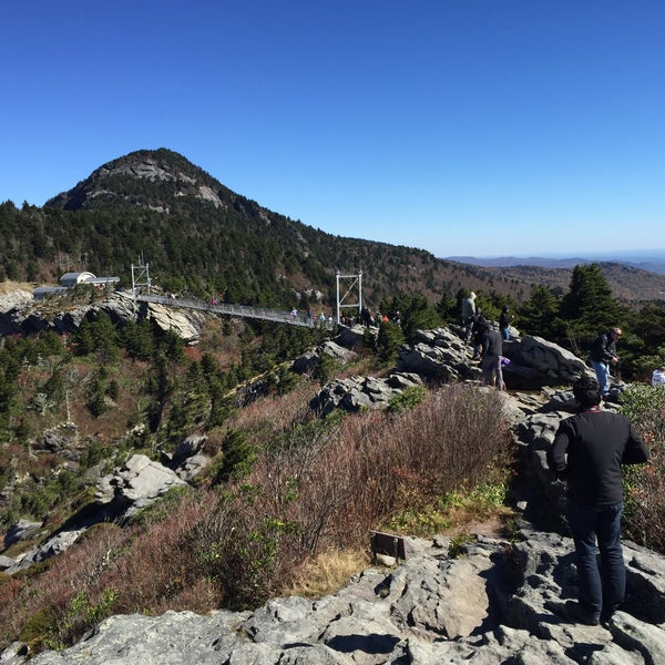 Photo taken at Grandfather Mountain by Chad P. on 10/17/2015