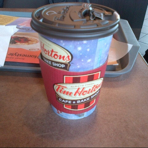 Photo taken at Tim Hortons by Nancy M. on 12/29/2012