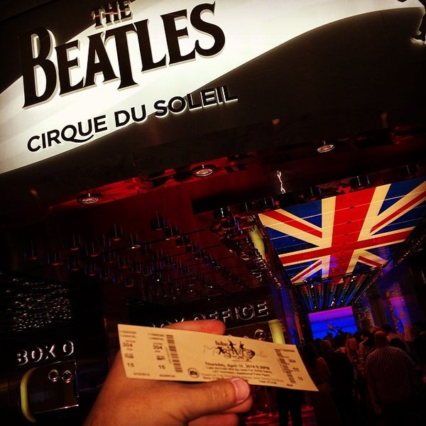 Photo taken at The Beatles LOVE (Cirque Du Soleil) by Murilo B. on 4/11/2014