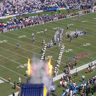 Photo taken at Qualcomm Stadium by Paul S. on 9/16/2012