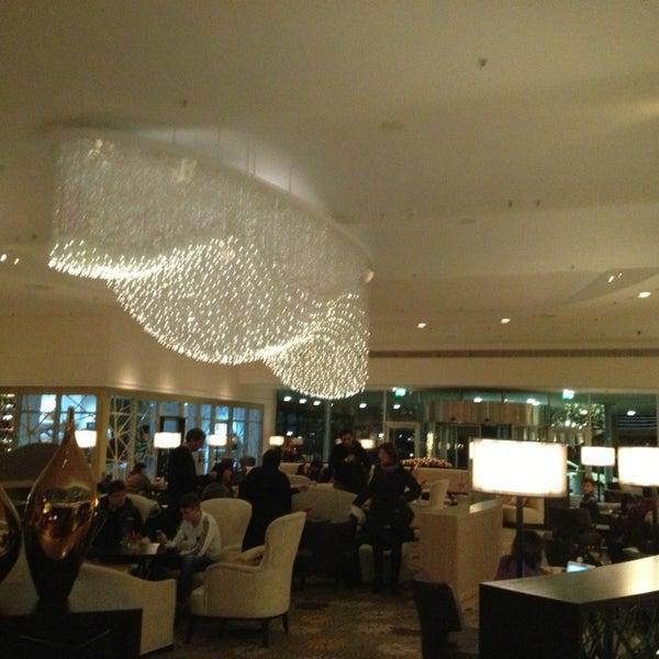 Photo taken at Hilton Munich Park by Elina on 12/30/2012