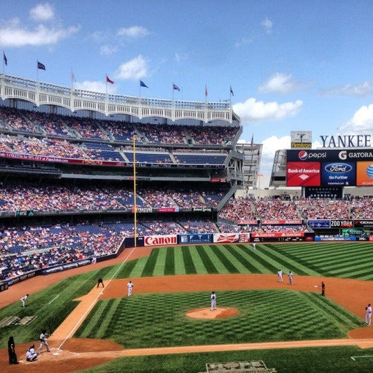 Photo taken at Yankee Stadium by Jason U. on 7/14/2013