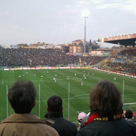 Photo taken at Stadio Ennio Tardini by Vale I. on 3/17/2012