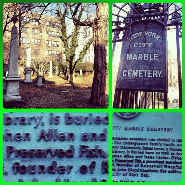 Photo taken at New York City Marble Cemetery by Isaac G. on 12/13/2013