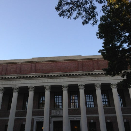 Photo taken at Widener Library by Gian U. on 10/11/2012