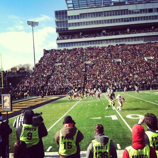 Photo taken at Kinnick Stadium by Meg M. on 11/23/2012