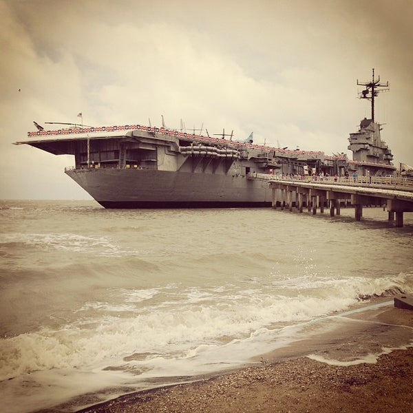 Photo taken at USS Lexington Museum On The Bay by Hideyo K. on 5/25/2013