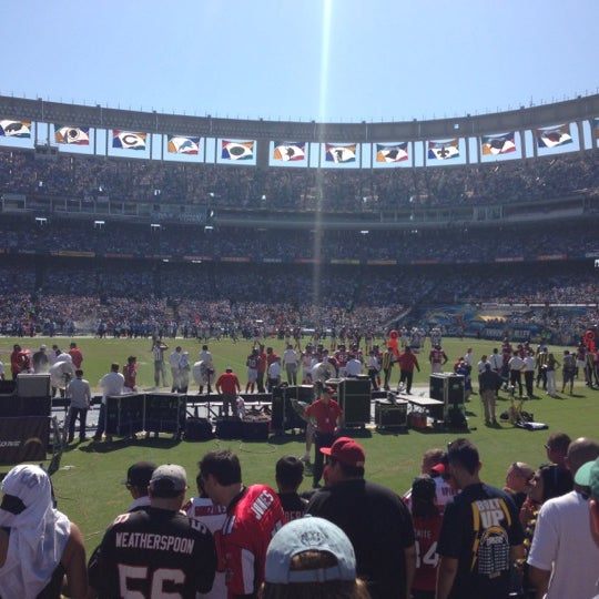Photo taken at Qualcomm Stadium by Spencer F. on 9/23/2012