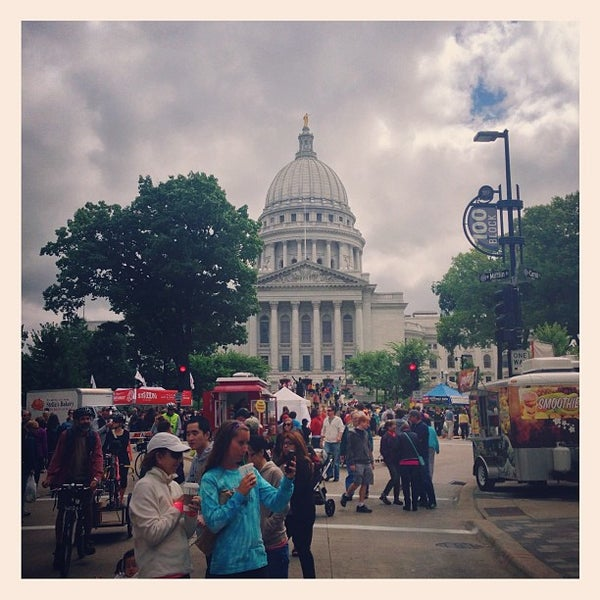 Photo taken at Dane County Farmers' Market by Bryan J. on 7/27/2013