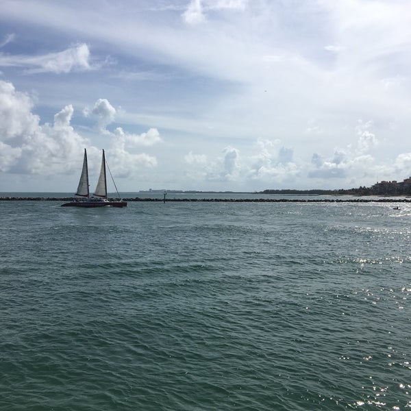 Photo taken at South Pointe Pier by Ann S. on 10/2/2016