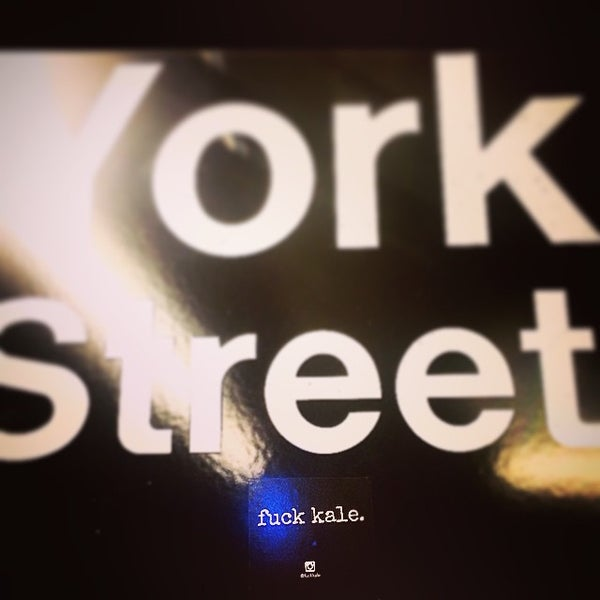 Photo taken at MTA Subway - York St (F) by Gabriela S. on 4/18/2015