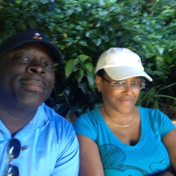 Photo taken at Jambo House Bus Stop by Benjamin G. on 7/22/2014